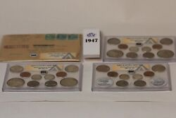 1947 Anacs Double Mint Sets As Issued Certified Original  P D And S Mints