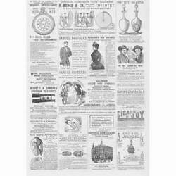 Victorian Advertisements Print 1884 - Watches, Decanters, Bicycles, Stockings
