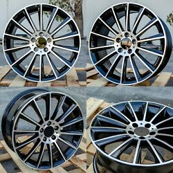 20x8.5 20x9.5 +35 5x112 Staggered Black Machined Face Wheels Fit Mercedes Amg