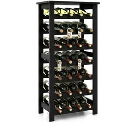 Hold 28 Bottles 7 Tiers Wine Rack Standing Display Kitchen Cellar Pantry Cabinet