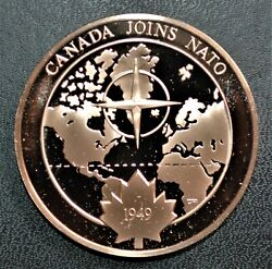 1949 Canada Joins Nato 1973 History Of Canada Proof Bronze Medal