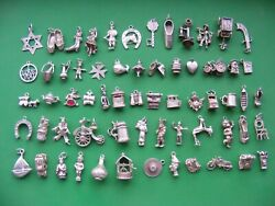 P Vintage Sterling Silver Charms Charm Golf Boot Cat Sword Bible Boat Shoe Leek