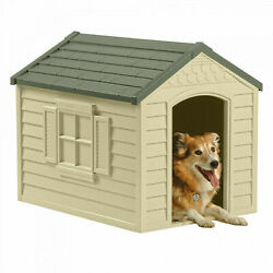 Xl Dog Kennel For Large Dogs Outdoor Pet Insulated Cabin House Big Shelter