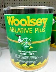 Woolsey Ablative Plus Marine Boat Antifouling Bottom Paint, Red 4703 Gallon