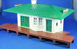 Plasticville - Rs7 Railroad Passenger Station - Complete - Very Good Condition