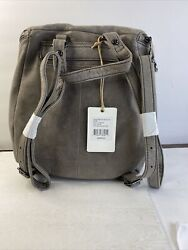 NWT $298 HOBO Bags International River Leather Backpack in Titanium Gray $189.99