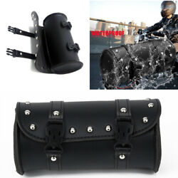 Black Front Fork Tool Bag Pouch Luggage Saddlebag Black For Motorcycle Scooter