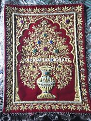 Wall Hanged Jewel Tapestry With Precious Stones And Golden Wires Home Decor M125