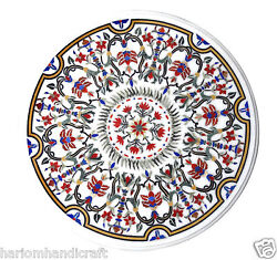 Size 3'x3' Marvelous Marble Dining Table Top Inlaid Collectible Mosaic Art H998c