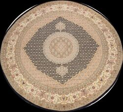 Vegetable Dye Royal-tebriz Geometric Oriental Area Rug Hand-knotted 8and039x8and039 Round