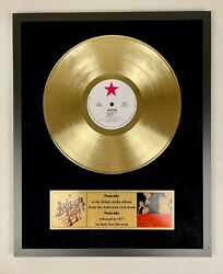 Suicide 1977 - Suicide Vinyl Gold Metallized Record In Frame Display