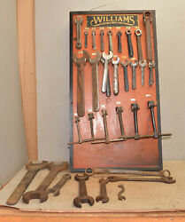 Antique Williams Wrench Hardware Display Board And 50 Lbs Of Williams Tool Lot
