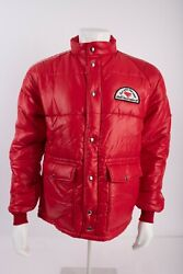Swingster Vintage 70s Mens Wolfand039s Head Oil Puffer Jacket Coat Large L Racing