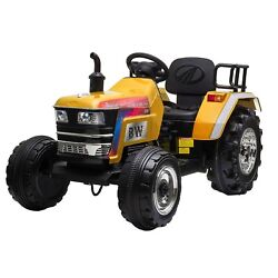 Tobbi 12v Kids Ride On Tractor With Remote Control, Electric Battery Powered