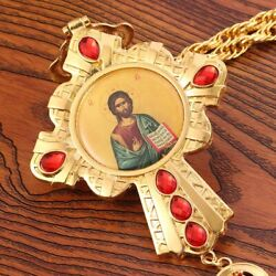 Jesus Cross Necklace Gold Plated Large Badge Pendant Church Baptism Jewelry Gift
