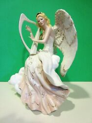 Lenox Heaven's Harmony Angel With Harp Limited Ed. Sculpture New In Box With Coa