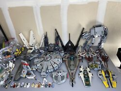 Star Wars Lego Lot Sets Minifigs Millennium Falcon At-at Imperial Shuttle Disney