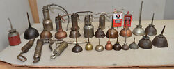 30 Old Vintage Antique Oil Can Oiler Usa Collectible Machine Lubrication Tools