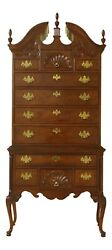 51541ec Thomasville Mahogany Collection Queen Anne Highboy