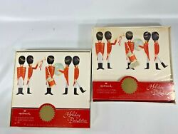 Vintage Hallmark Postalettes Holiday Toy Soldiers 2 Boxes Of 12 Fold Up W/seals