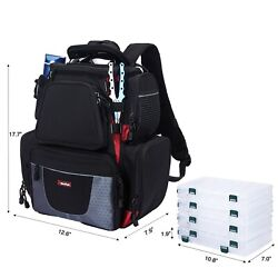 Piscifun Fishing Tackle Backpack With 4 Trays Large Capacity