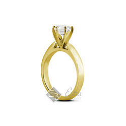 0.73ct I Si1 Round Natural Diamond 14k Yellow Gold Solitaire Engagement Ring