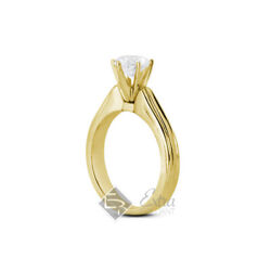0.74ct G Vs2 Round Natural Diamond 18k Gold Vintage Solitaire Engagement Ring