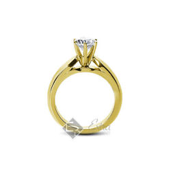 0.68ct D/vs2 Round Natural Diamond 14k Yellow Gold Solitaire Engagement Ring
