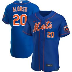 New York Mets Pete Alonso 20 Nike Men's Official Mlb Authentic Player Jersey