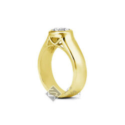 1.02ct G Si1 Round Natural Diamond 18k Yellow Gold Solitaire Engagement Ring
