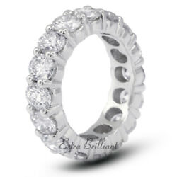 3 1/2ct F Si2 Round Natural Certified Diamonds 14kw Gold Classic Eternity Ring