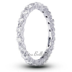 2ct G Si1 Round Natural Certified Diamonds 14k White Gold Classic Eternity Ring