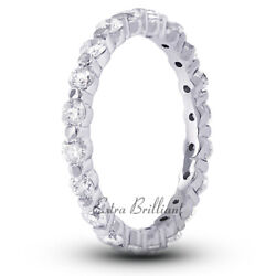 3ct I Si1 Round Natural Certified Diamonds 18k White Gold Classic Eternity Band