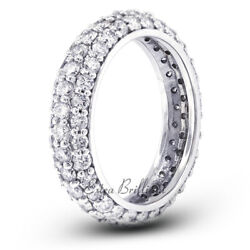 1 1/2ct G Si1 Round Cut Natural Certified Diamonds 18k White Gold Eternity Band
