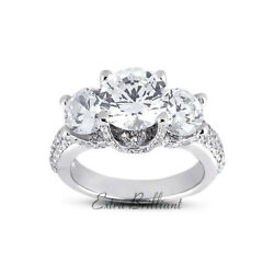 1.55ct H I1 Round Natural Diamonds 18k White Gold Vintage Style Engagement Ring