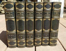Memoirs Of Jacques Casanova Vol. 1-6 Limited Edition 1 Of 500 On Louvain Paper