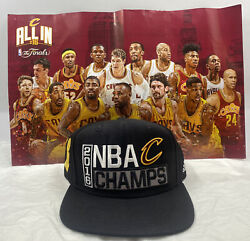 Cleveland Cavaliers Lebron James 2016 Nba Champions Hat Adidas + Poster