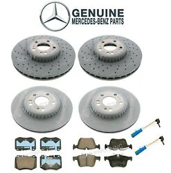 Genuine Front And Rear Disc Brake Rotors Pads And Sensors For Mercedes W205 C300