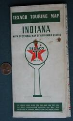 1940 Texaco Skychief Gas And Motor Oil Service Station Touring Indiana Road Map