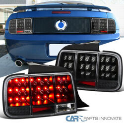 For 05-09 Ford Mustang Led Sequential Signal Black Tail Lights Rear Brake Lamps