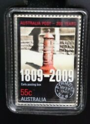2009 Australia Postbox Stamp Coin Set - Silver Stamp - Special Display