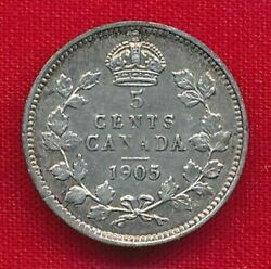 Canada 1905 5 Cents .0346 Ounces Of Silver