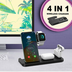 4in1 15w Qi Wireless Charger Stand Usb-a To Usb-c Charging Board For Phone Watch