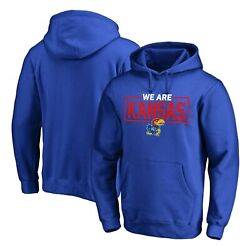Kansas Jayhawks Fanatics Branded Big And Tall We Are Icon Pullover Hoodie - Royal
