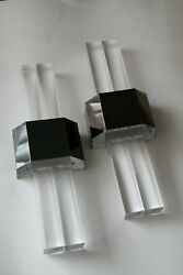Pair Of Lucite Wall Lights Hollywood Wall Light By Bella-figura Italy