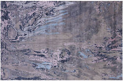 6and039 0 X 9and039 1 Abstract Handmade Wool And Silk Rug - Q8719