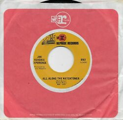 Jimi Hendrix All Along The Watchtower / Midnight Lamp Rare 45 From 1968