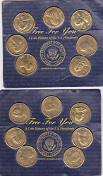 1997 Readers Digest A Coin History Of The U.s. Presidents Brass Coins - 2 Sets