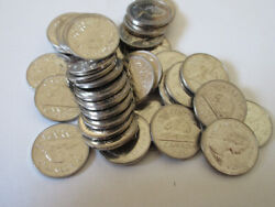 Roll Of 1984 Canada Five Cents. Unc. 40 Nickel Coins 5c Rj