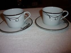 2 Sets Mikasa Cocoa Blossom Cups And Saucers New With Stickers Still Attached
